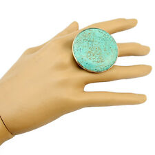 New Bohemia Fashion Big Round Turquoise Rings Jewelry for Women as a Gift