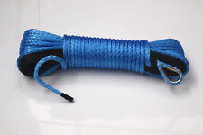 "Blue 3/16""*50ft ATV winch line,Boat Winch Cable,Synthetic Rope  for auto parts"
