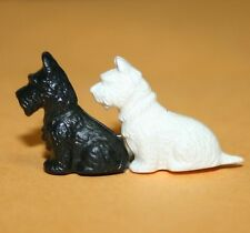 Black Scottish Scotty White West Highland Westy Terrier Dog Pin Brooch Animal