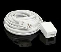 RJ11 4 Pin Male to Female Extension Socket Cable For UK Telephone Lines