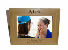 Niece Wooden Photo Frame 7x5 - Personalise this frame - Free Engraving