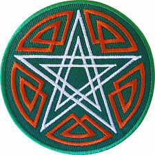 Embroidered Pentagram Patch Badge Iron / Sew On Clothes Jacket T Shirt Bag Jeans