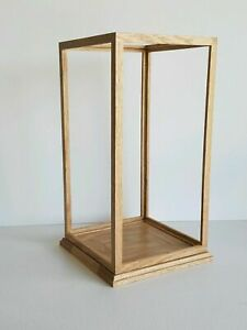 Display Case 8Lengthx8Widthx18Height READY TO SHIPPING Solid Oak Wood Handmade