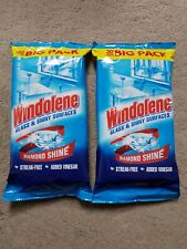 2 x Windolene Glass & Shiny Surfaces Streak-Free Window Wipes Pack 30 (Total 60)