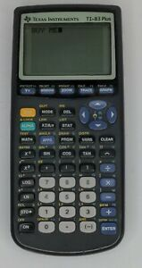 Texas Instruments TI-83 Plus Graphing Calculator Tested & Working  NO BACK CASE