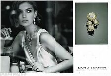 Publicité Advertising 2012 (2 pages) Bijoux Joaillerie David Yurman