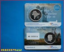 NEDERLAND - COINCARD 5 € 2015 BU - HET WATERLOO VIJFJE