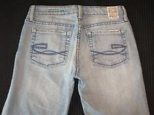 Chip & Pepper Olivia Bootcut Jeans Women Sz 27 Light Blue Distressed Stretch L28