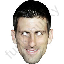 Novak Djokovic Tennis Player Celebrity Card Mask - All Our Masks Are Pre-Cut!