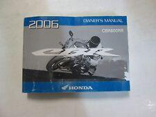 2006 Honda CBR600RR CBR 600 RR Owners Operators Owner Manual FACTORY Brand New