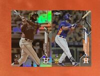 Yordan Alvarez 2020 Topps Chrome Rookie Card Sepia Refractor SP + Base Debut lot