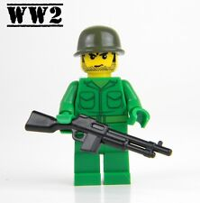US Army WW2 minifigure Soldier made with real LEGO® BAR