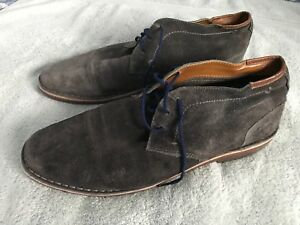 KENNETH COLE REACTION OXFORD GREEN SUEDE LEATHER LACE UP MENS SHOES 13 SC8
