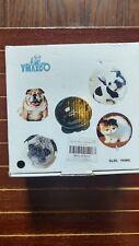 Cerámica mate Mascota Gato Perro Cachorro De Lactancia Comida Plato Bowl Agua Woof Marrón 19.50cm
