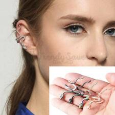 Hypoallergenic Stainless Steel Snake Wrap Ear Cuff Cartilage Earrings Unisex