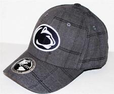Top of the World Penn State University Lioins Gray Plaid Monarch Cap Hat