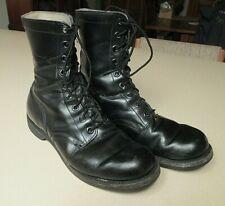 Vintage USA 1966 Vietnam War Military Black Leather Combat  Boots Sz 10 R