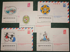 5 Vtg Envelopes Covers MOSCOW OLYMPIC GAMES Sport Boxing Wrestling Football USSR