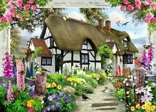 NEW Ravensburger Rose Cottage 1000 piece country flowers jigsaw puzzle