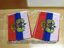Fahnen Flagge Flaggenkette Russland Wappen 6 Meter Lang