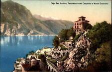 Capo San Martino Italia AK ~ 1910/20 Panorama verso Livigno e Monte Generoso
