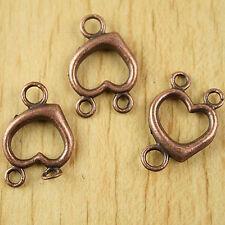 12pcs copper tone peach technics link connectors h1924