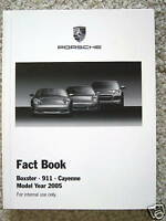 PORSCHE BOXSTER 911 4S GT2 GT3 RS TURBO S TARGA CAYENNE FACT BOOK BROCHURE 2005.