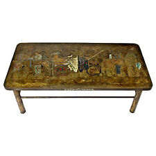 Philip & Kelvin Laverne patinated-bronze coffee table Romanesque