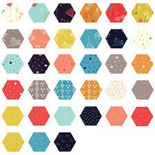 252 Fabric Hexagons - diecut from a Moda Layer Cake - Desert Bloom Sherri&Chelsi