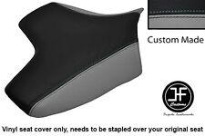 BLACK & GREY VINYL CUSTOM FOR KAWASAKI Z750 07-12 & Z1000 07-09 FRONT SEAT COVER