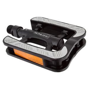 Sunlite City Non-Slip Pedals Sunlt City Non-slip Bk/gy 9/16 Aly W/rubber