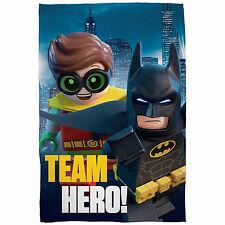 Lego Batman Movie Team Hero Robin Print Fleece Blanket Large 100cm X 150cm