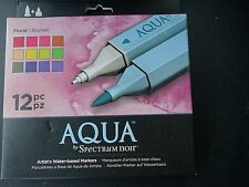 Spectrum 12 Aqua Twin-tip Artist's Water-based Markers - Floral