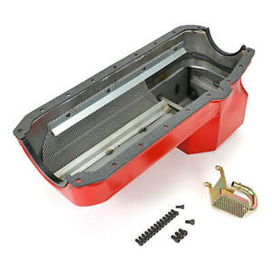 Hamburger Engine Oil Pan 1099; Econo-Series Drag Race 7qt Red for Chevy S-10 SBC