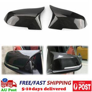 For BMW 4 Series F32 F33 F36 420i 428i 435i Mirror Cover Cap Carbon Fiber Finish