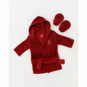Liverpool FC Baby Red Dressing Gown & Slipper Set LFC Official