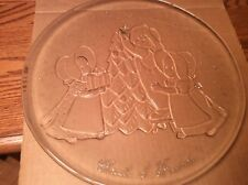 """Home Interiors """"Circle of Freinds """"Christmas Large Glass Platter Item 8883 EUC"""