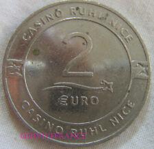 MED10115 - MEDAILLE JETON CASINO RHUL NICE 2€