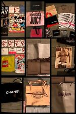 37 SHOPPING GIFT BAGS Juicy BCBG Nordstrom Neiman Bebe Chanel HIGH END STORE