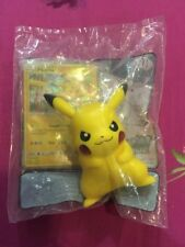McDonald's Pokemon Sun Moon 2017 Happy Meal Figure Pikachu With Pikachu Card NEW
