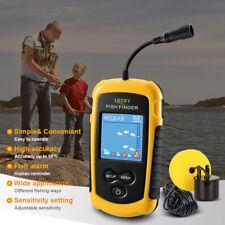LUCKY LCD Wired Fish Finder 100M Depth Range Sonar Echo Sounders Fishfinder V5T2