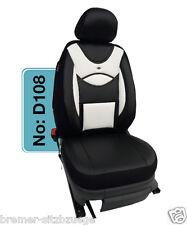 DODGE Sitzbezüge Schonbezüge Sitzbezug Fahrer & Beifahrer D108 Schwarz-Weiß