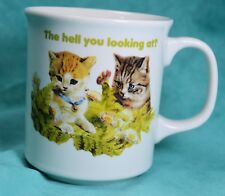 Kittens kitty cat coffee cup - ceramic sarcastic