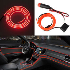 6.5FT LED Car Interior Decor Atmosphere Wire Strip RED Light Lamp Accessories