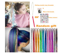 12 Colors Hair Extensions Sparkling Shiny Glitter Tinsel kit Dazzle 2000 Stands