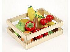 NEW FRUIT SALAD Wooden Play Food - 11 pcs & crate TIDLO Pretend Food