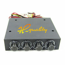 """Fan Speed Controller Led Cooling Front Panel FOR 3.5"""" PC HDD CPU 4 Channel"""