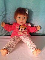 "Hasbro 1985 20"" Dressed Real Baby J Turner-Big Heavy Baby doll"