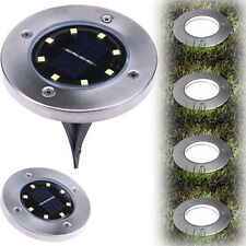 8 LEDs Solar Powered Flat Buried Light In-Ground Lamp Outdoor Path Garden Decor