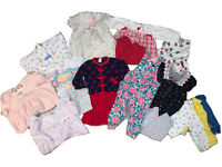 80s/90s Lot Of 10 Girls Vintage Baby Toddler Clothes Jumpers Rompers Outfits 24M
